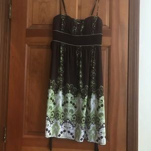 Brown and green sundress